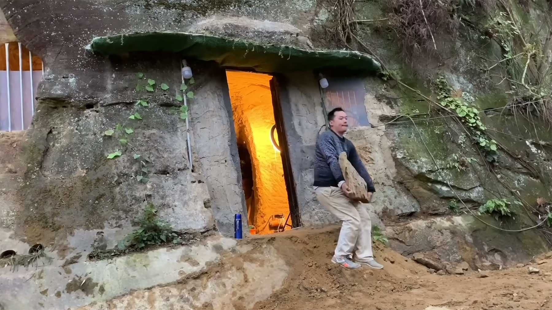 Einfach ein Loch in einen Berg schlagen und drin wohnen