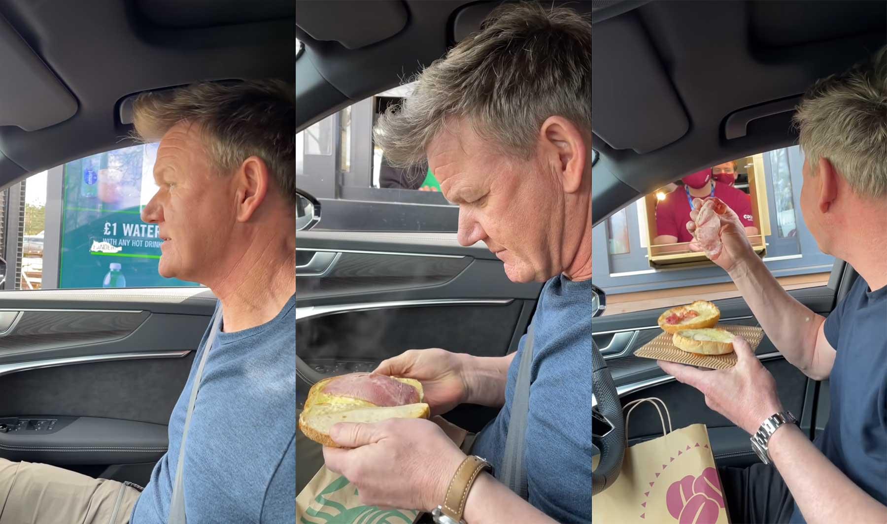 Gordon Ramsay bestellt und bewertet Essen im Drive-Thru