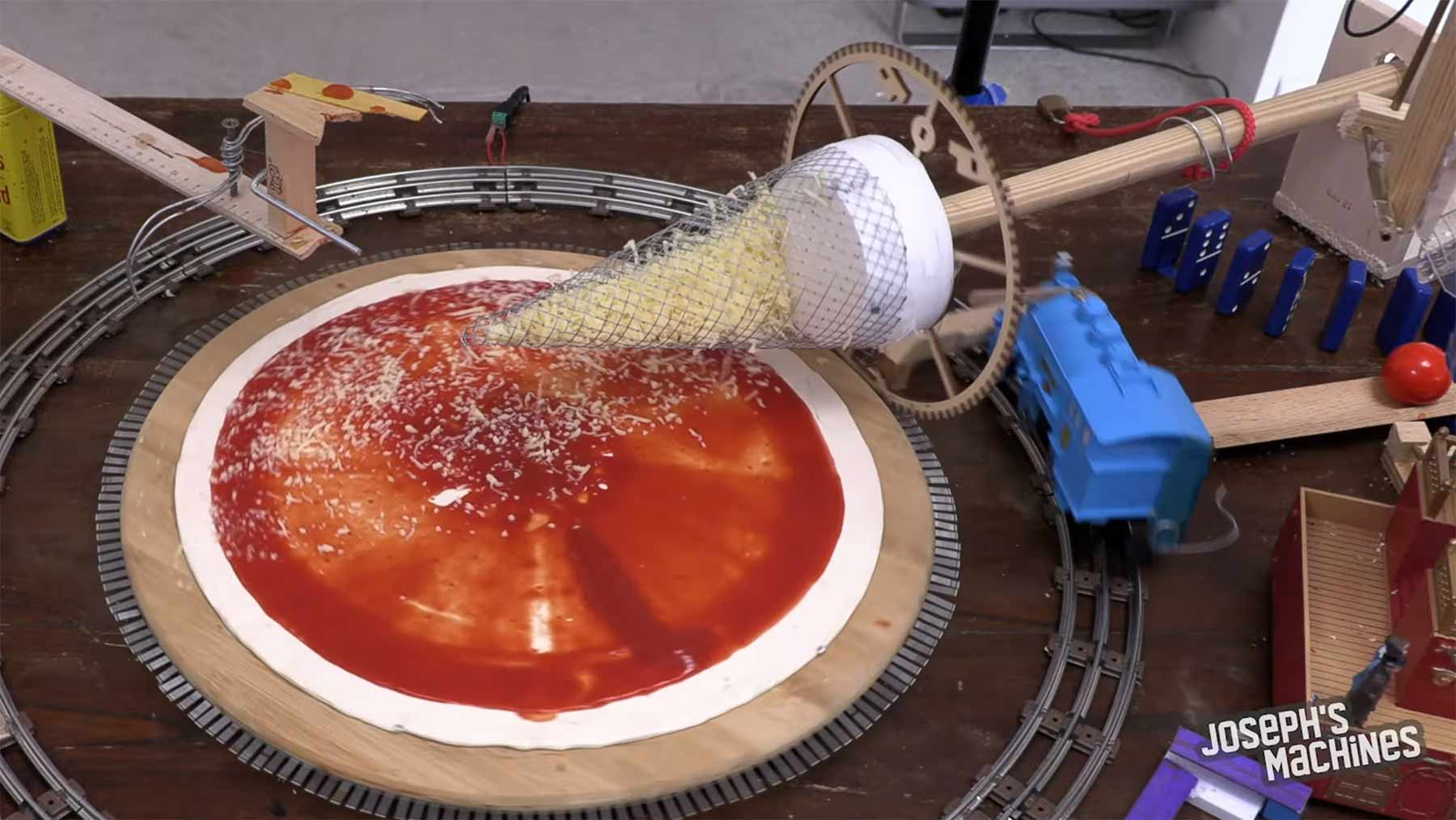 Pizza-Beleg-Maschine