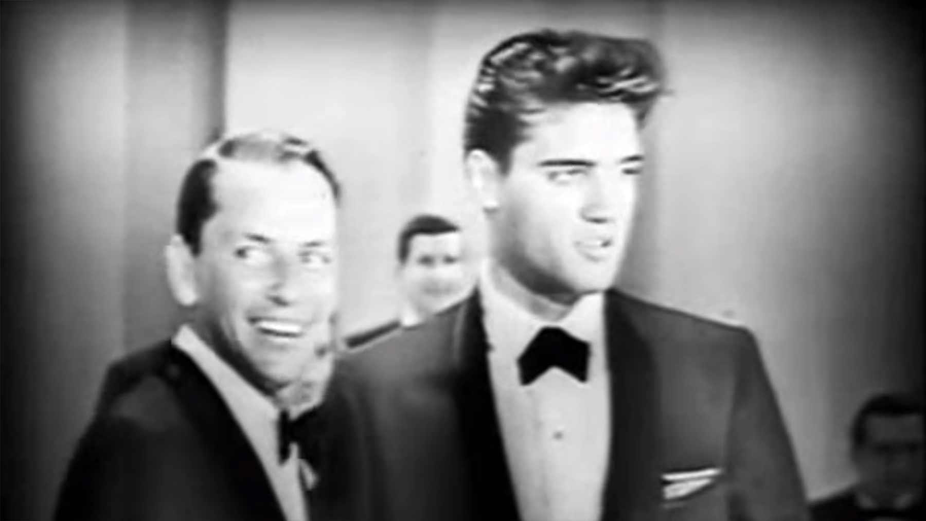 Frank Sinatra und Elvis Presley singen ein Duett