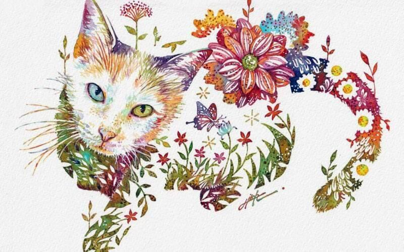 Wasserfarb-Malerei von Hiroki Takeda