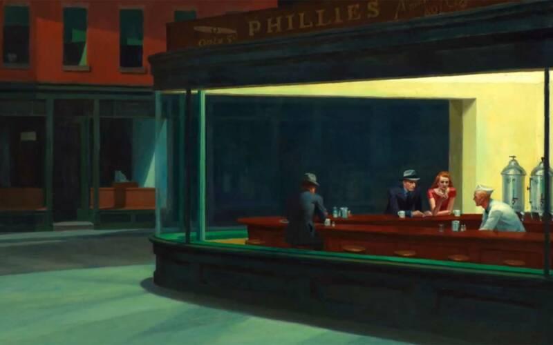 """Erklärung des Gemäldes """"Nighthawks"""" von Edward Hopper"""