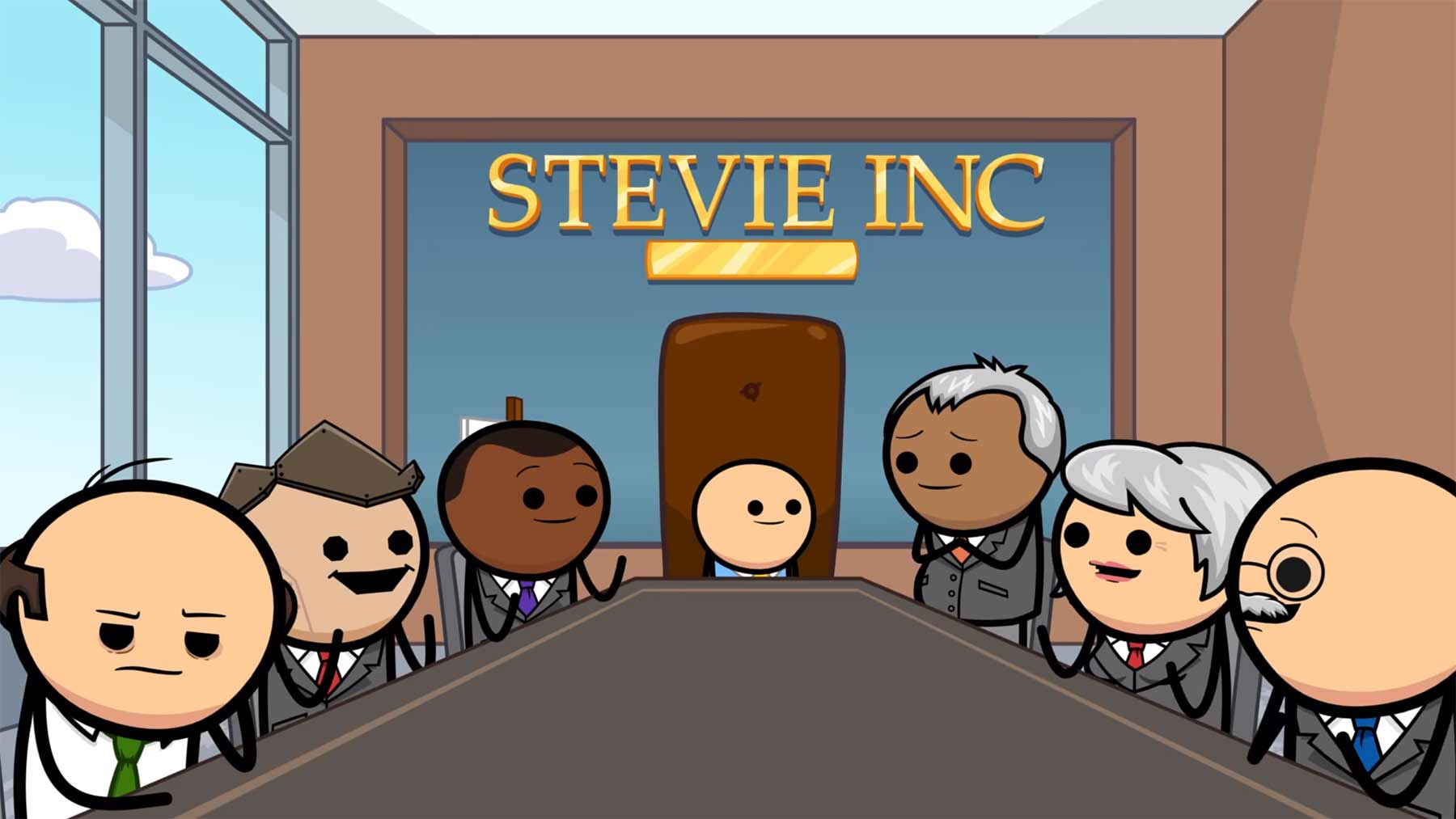 """Cyanide & Happiness Shorts: """"Stevie McBusinessman"""""""