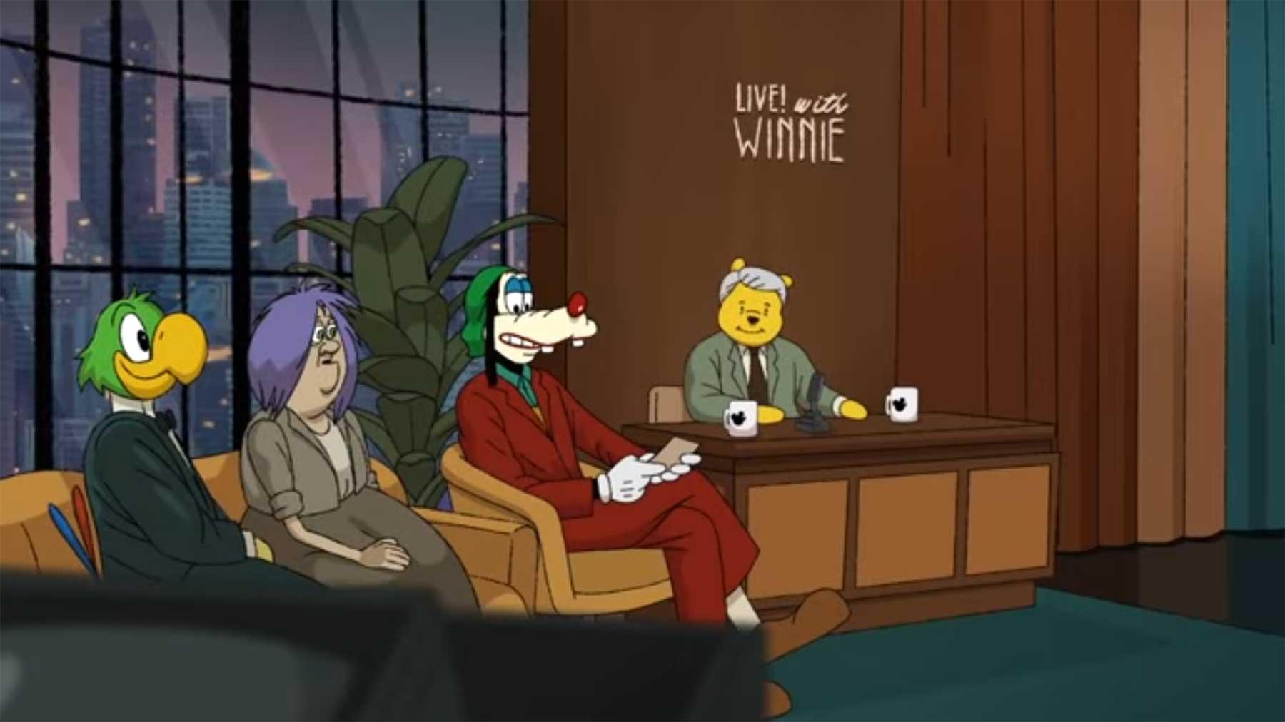 """Die finale """"Joker""""-Szene mit Goofy und Winnie Puuh joker-szene-mit-goofy-und-winnie-puuh"""