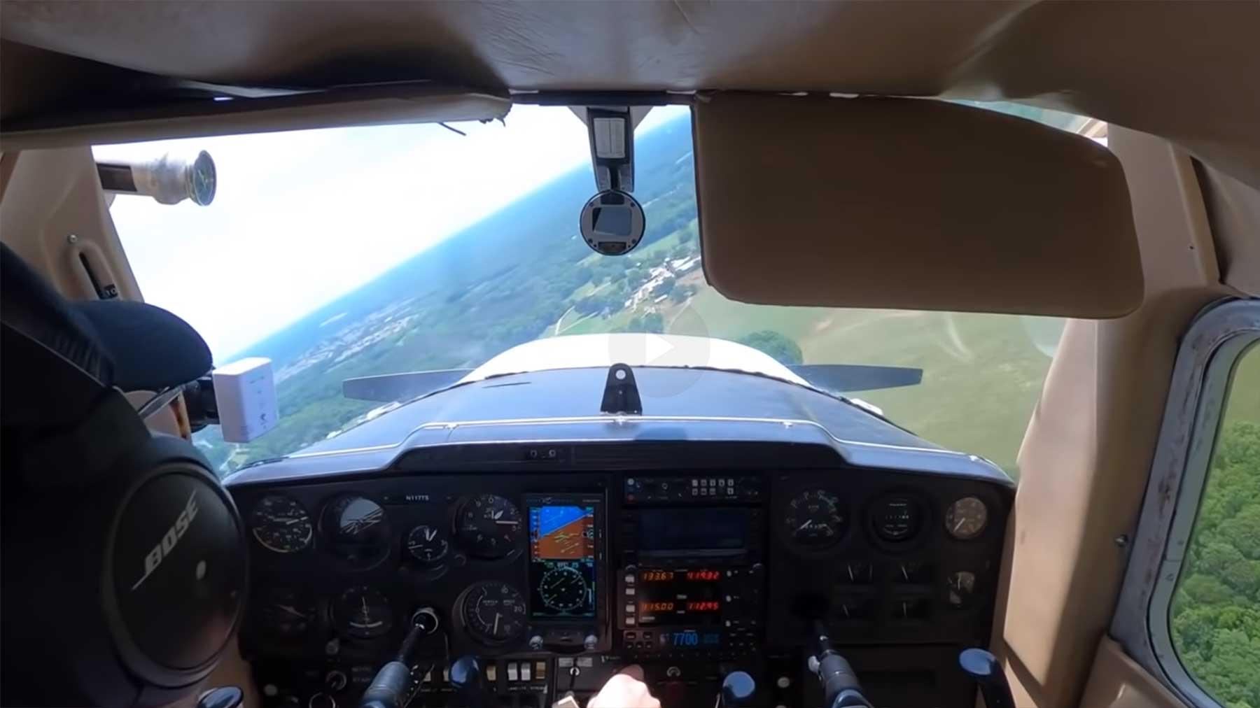 Notlandung eines Flugschülers nach Ausfall des Motors