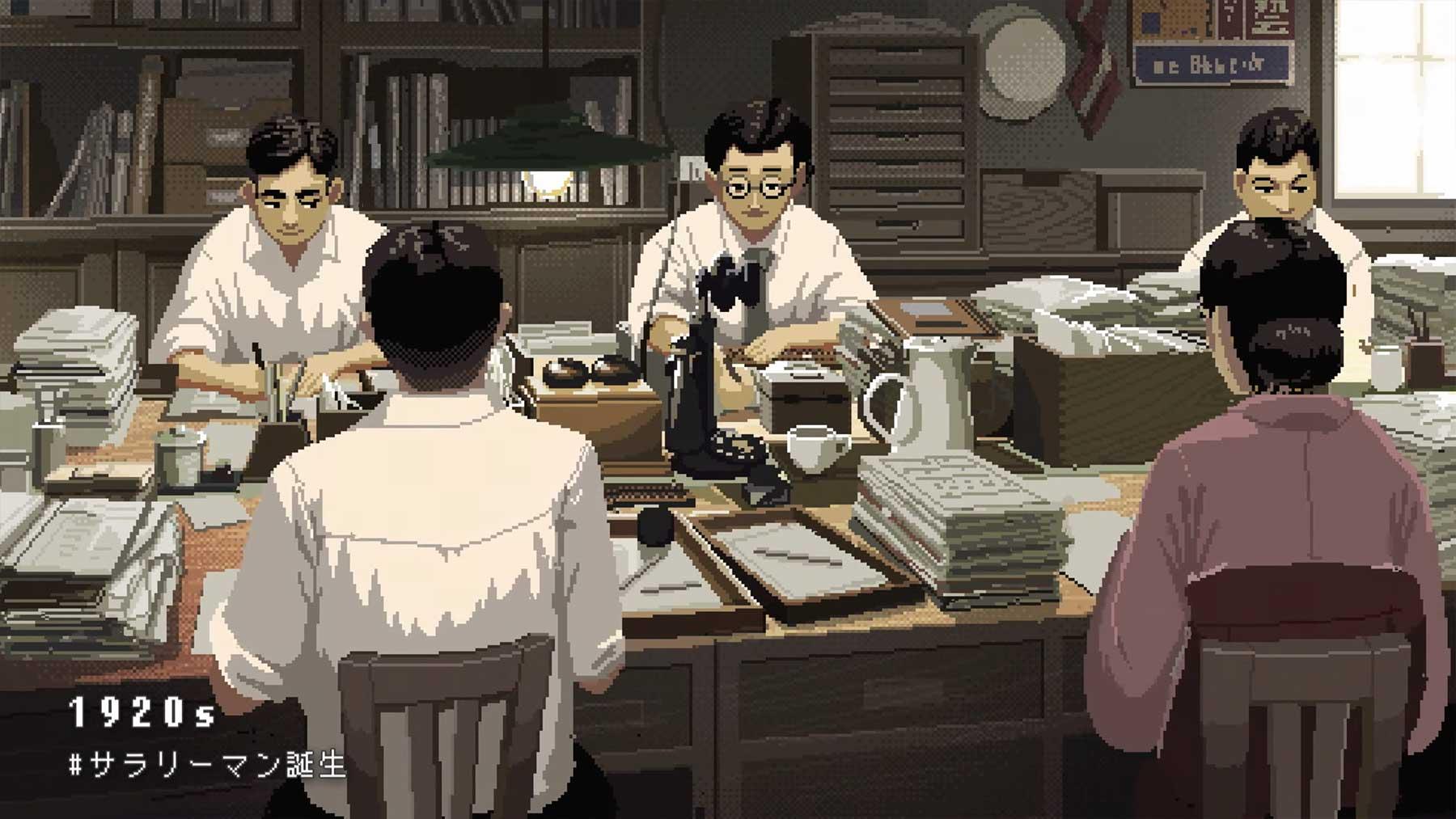 100 Jahre japanische Arbeitskultur im Pixel-Look