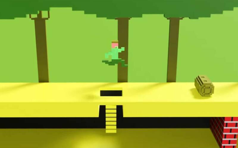 Atari-Videospiele in 3D nach-animiert