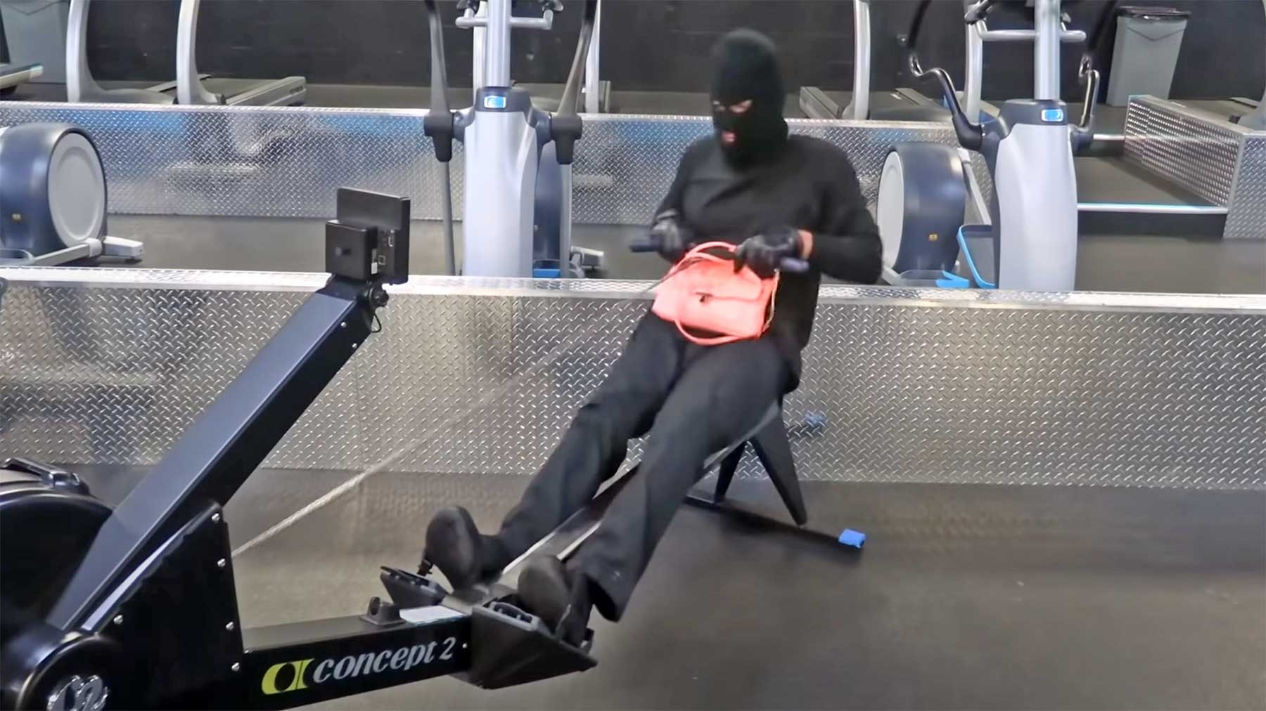 Wenn Diebe im Fitnessstudio trainieren