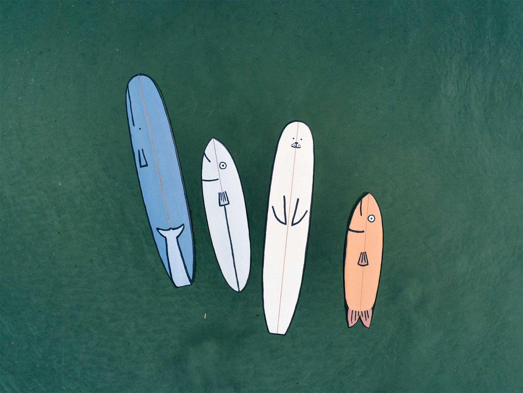 Tier-Surfbrett-Designs von Jean Jullien Jean-Jullien-surfbretter_04