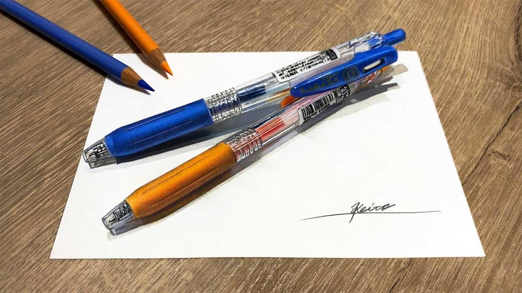Ultrarealistische Zeichnungen von Keito