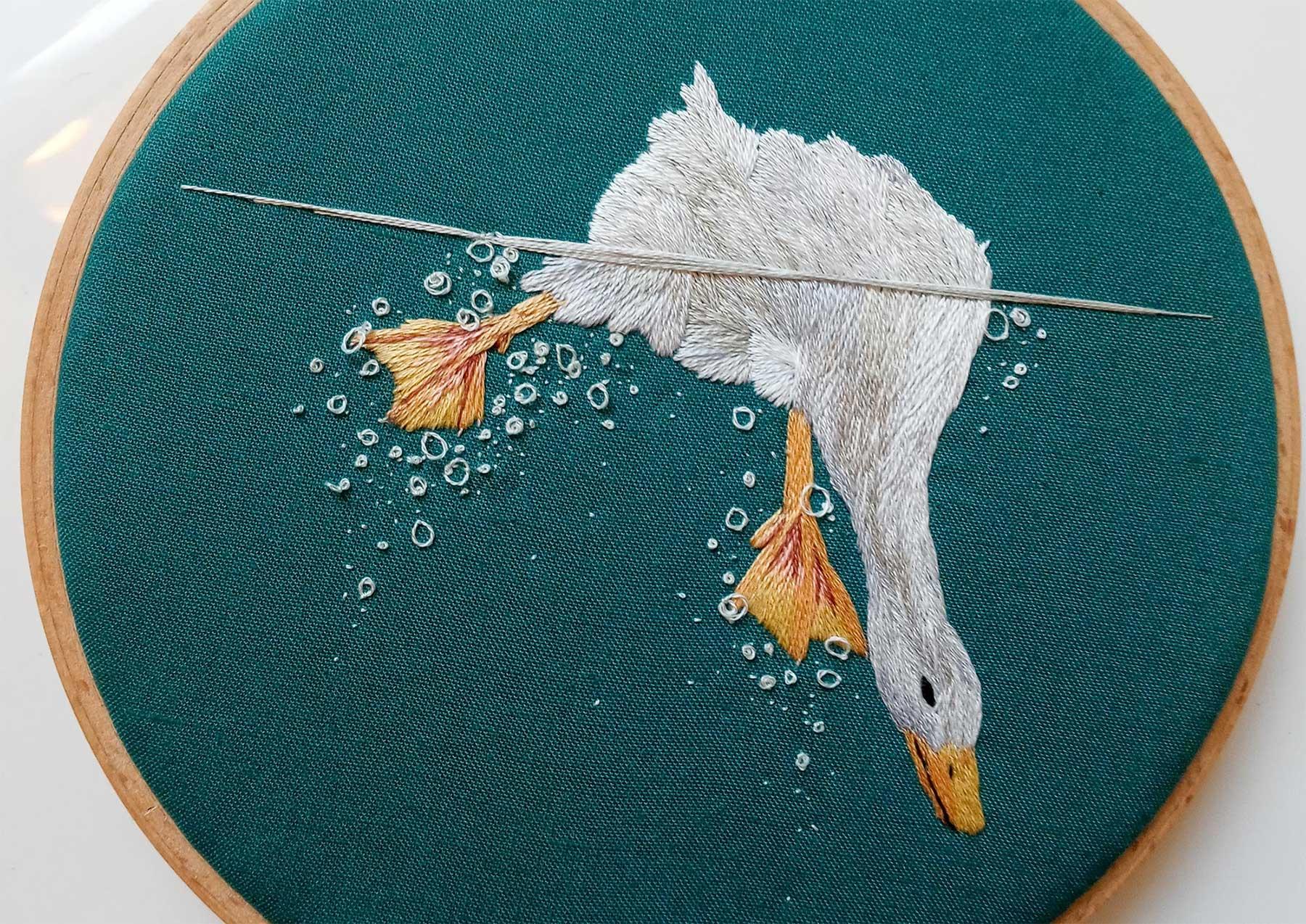 Tier-Unterwasser-Stickereien von Megan Zaniewski