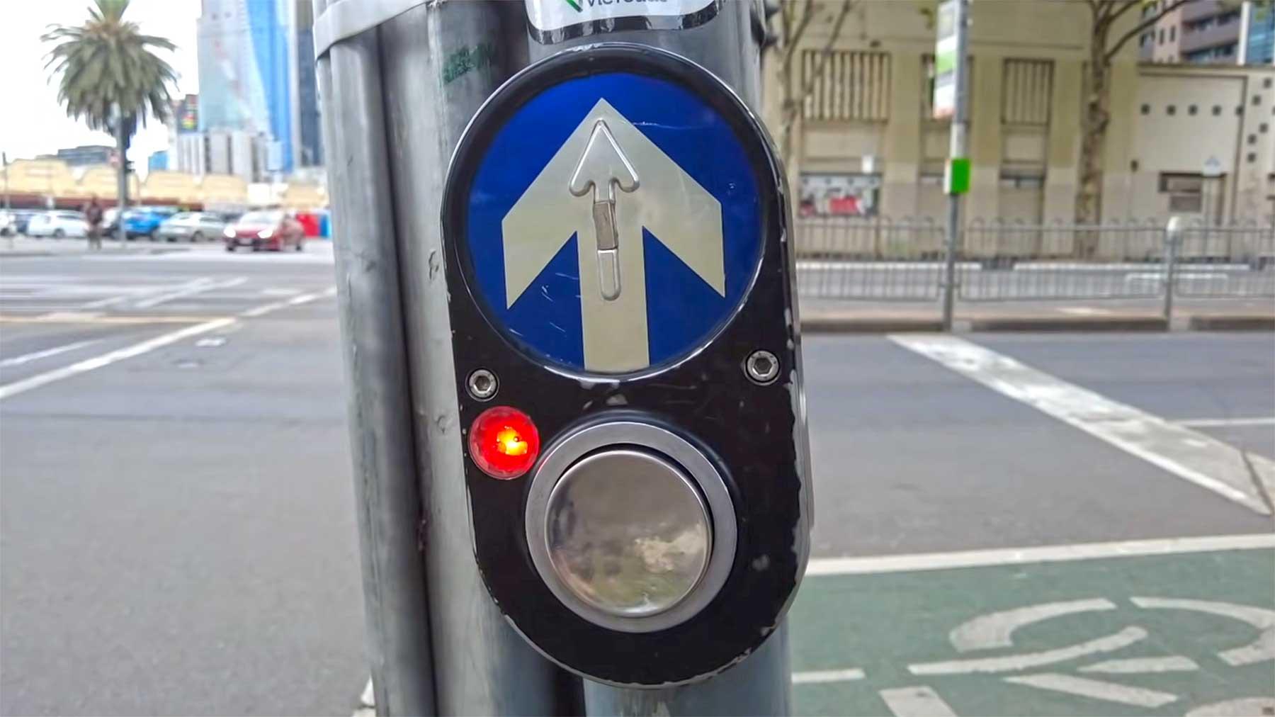 Weshalb der australische Fußgänger-Ampelschalter so genial ist