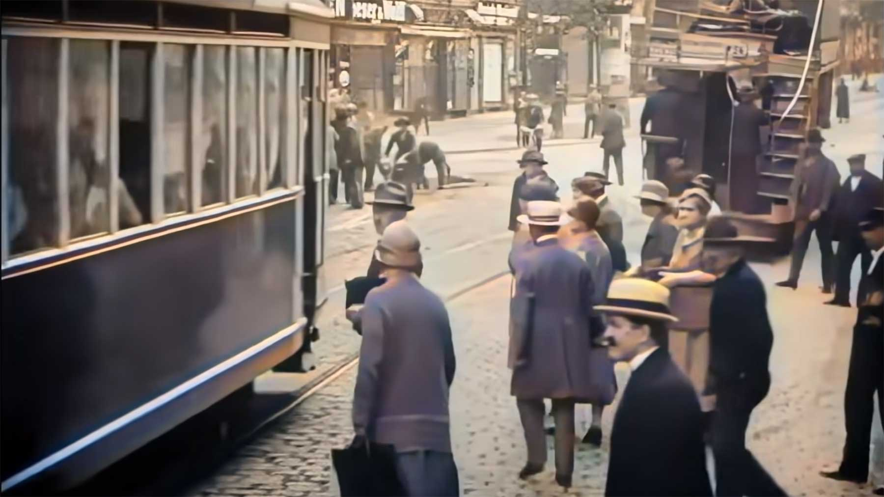 Eine Stunde colorierte Berlin-Aufnahmen aus dem Jahr 1927