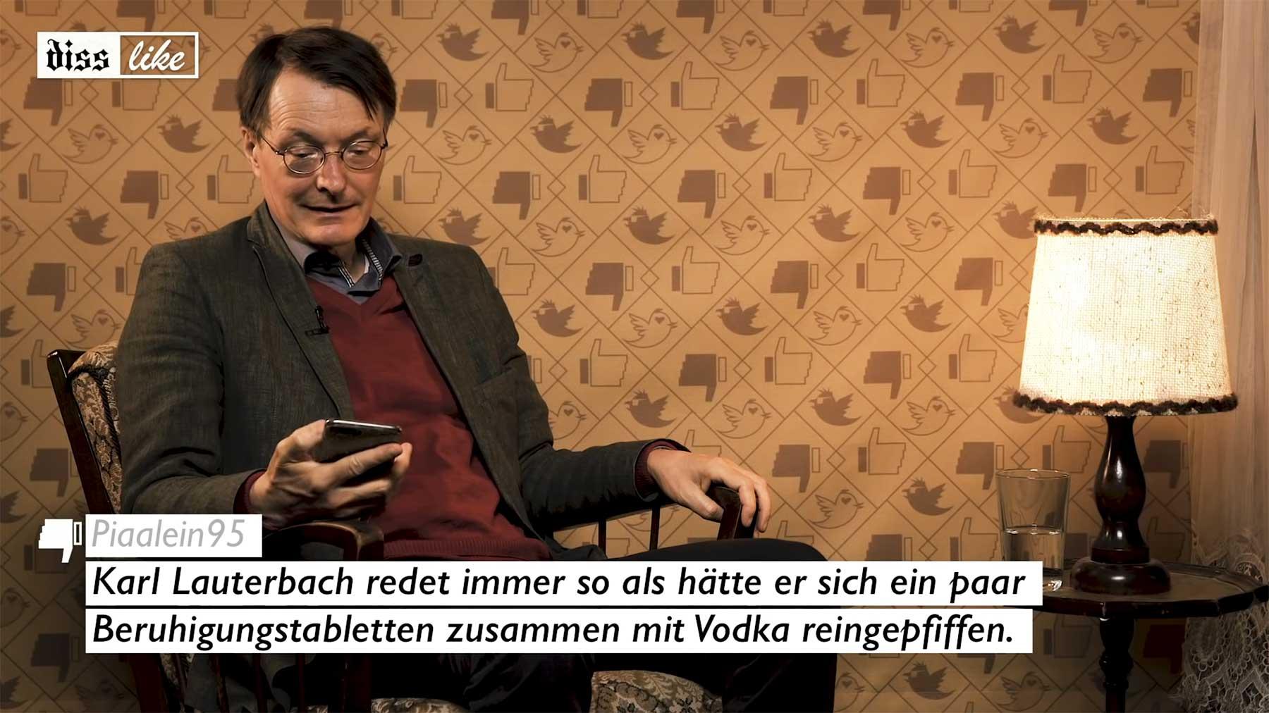 DISSLIKE: Karl Lauterbach reagiert auf kritische Social-Media-Posts