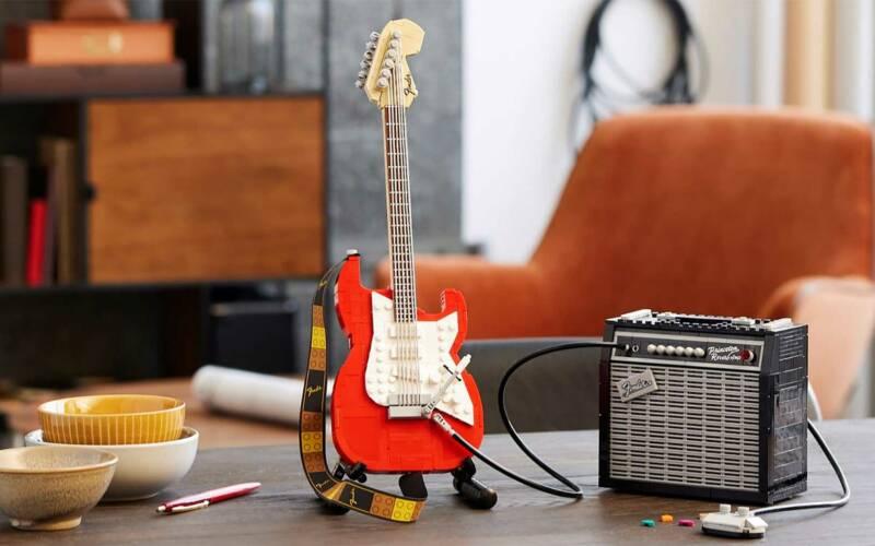 LEGO-Gitarre: Das Fender-Stratocaster-Design