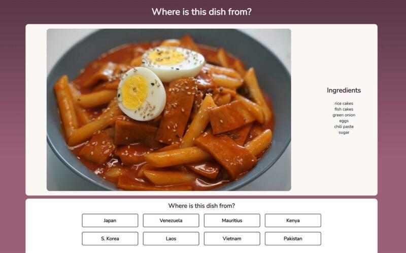 Browser-Quiz lässt euch raten, wo Gerichte herkommen