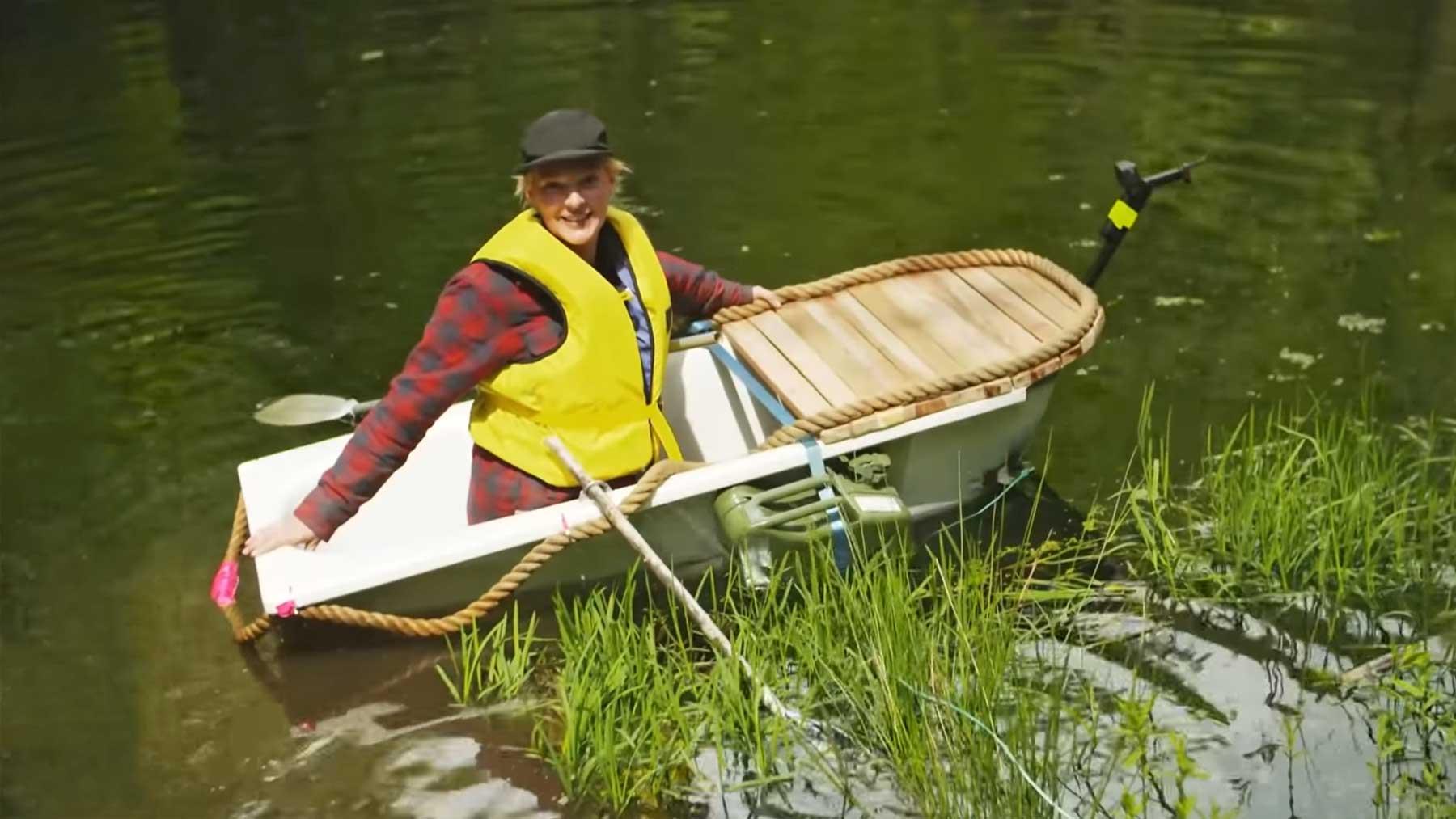 Ein Boot aus einer Badewanne bauen