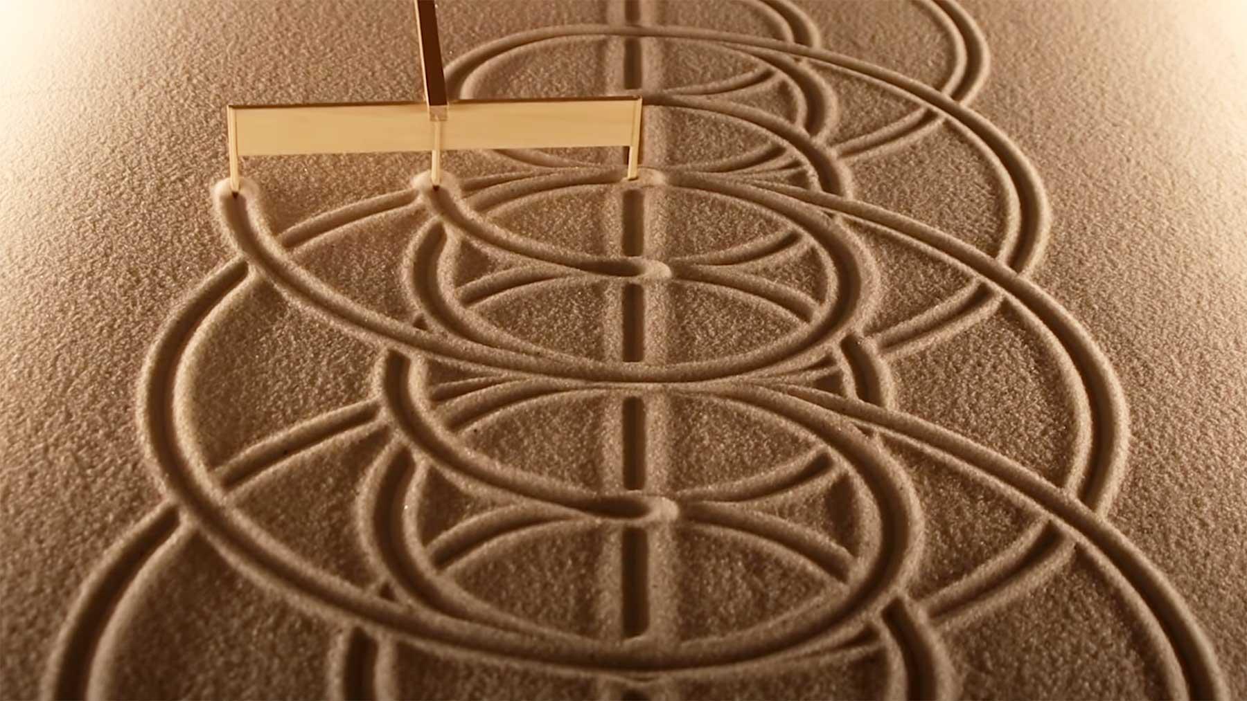 23 Minuten Zen-Garten-Sandmuster-Erstellung