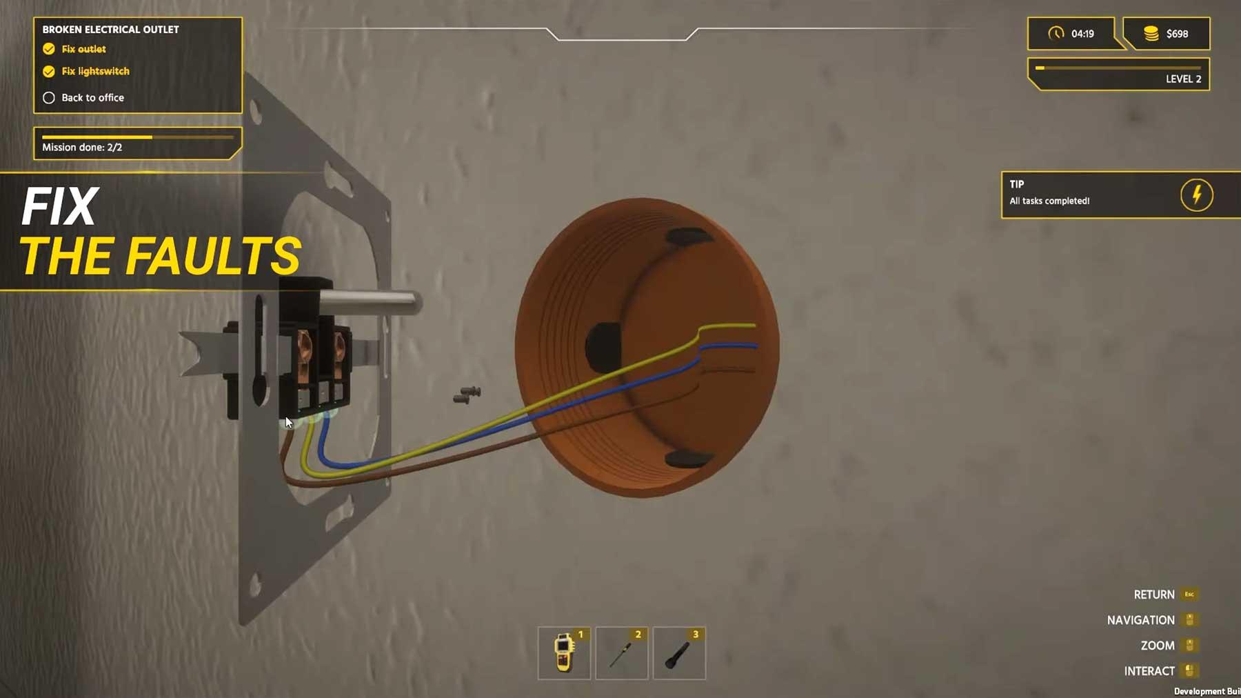 "In ""Electrician Simulator"" könnt ihr Elektriker spielen Elektriker-simulation"