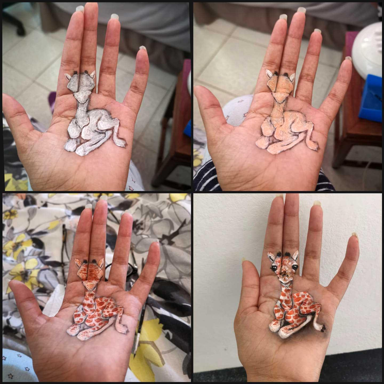 Kleine 3D-Handgemälde von Iantha Naicker Iantha-Naicker-3D-malerei-auf-hand_03