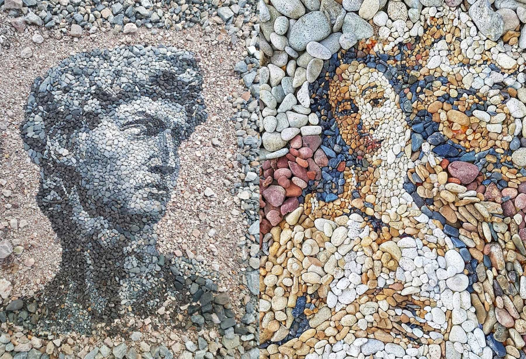 Stein-Mosaike von Justin Bateman
