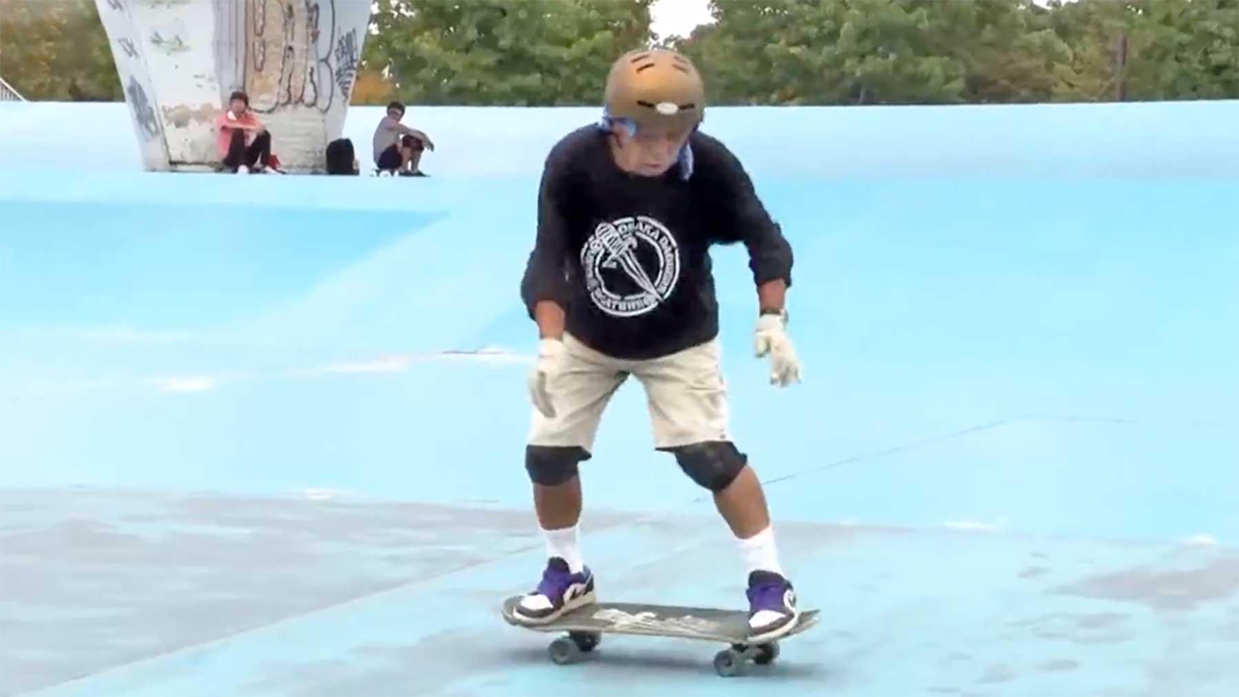 81-Jähriger Skateboarder Kinoshita Yoshio Kinoshita-Yoshio-81-jaehriger-skateboarder