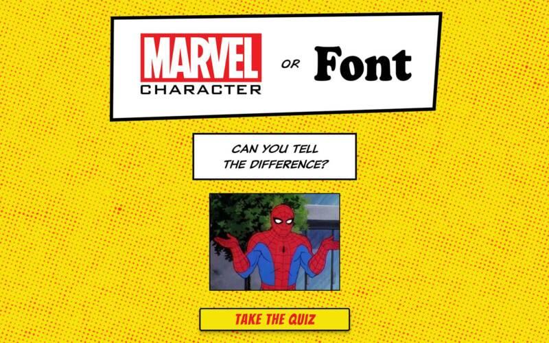 Marvel-Charakter oder Schriftart?