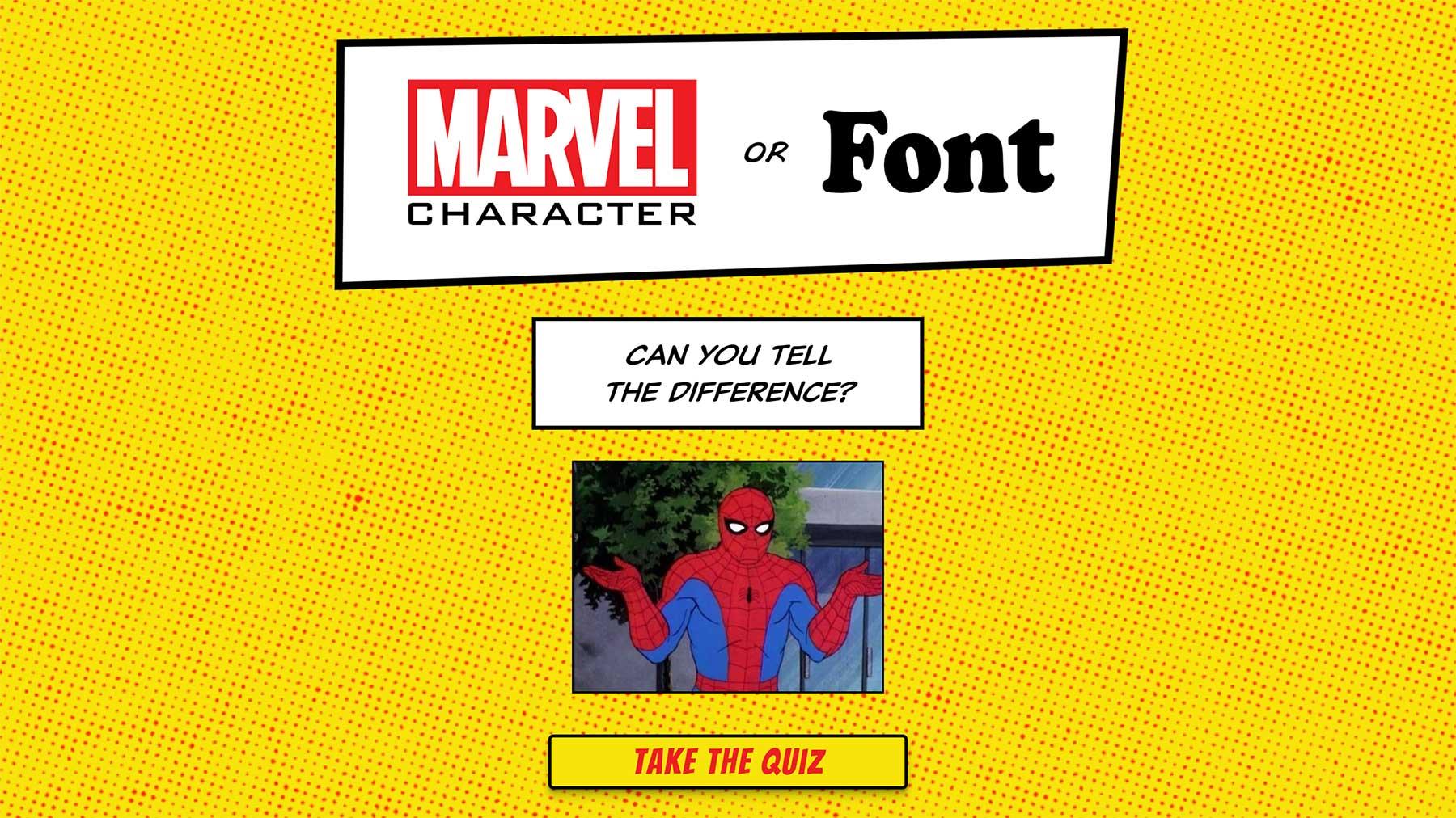 Marvel-Charakter oder Schriftart? Marvel-Character-or-font-quiz
