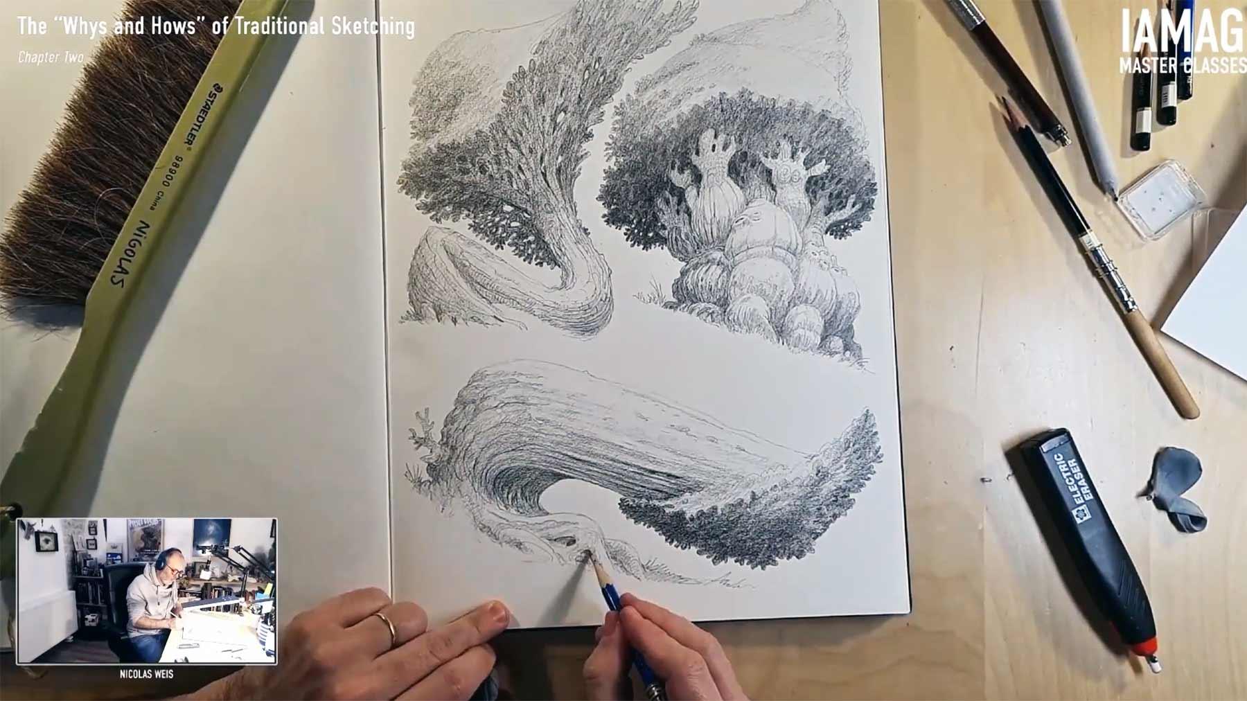 6 Stunden zeichnen in 4 Minuten
