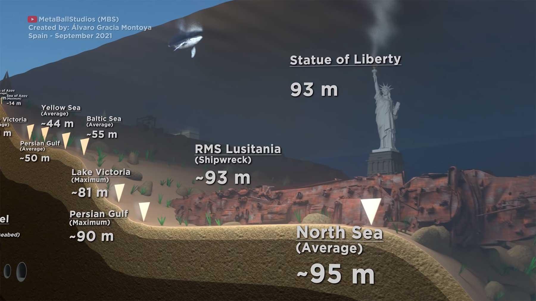 Der tiefste Punkt der Ozeane als Animation visualisiert