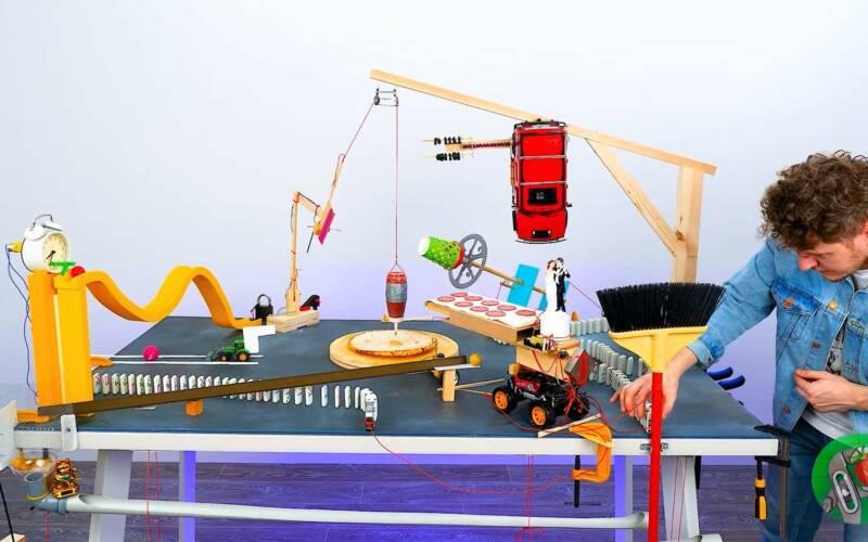 Rube Goldberg Pizza Machine